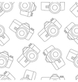 line seamless photo camera with shutter vector image