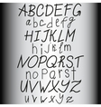 Hand drawn alphabet ABS letters vector image