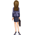 A backview of a business woman vector image vector image