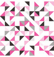 a pink and grey geometric background vector image vector image