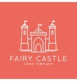 abstract fairy tale castle line style logo vector image vector image