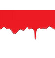 abstract red blood flowing on white background vector image