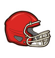 american football helmet isolated equipment game vector image vector image