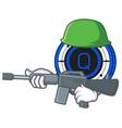 army qash coin character cartoon vector image vector image
