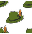 austrian symbol hat with feather robin hood vector image vector image