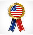 badge or medal united states america vector image vector image