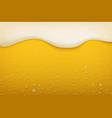 beer foam realistic craft beer bubbles condensate vector image vector image
