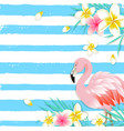 blue summer tropical background vector image vector image