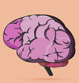 Brain Human Internal Symbol Icon vector image