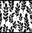 branches with leaves foliage silhouette seamless vector image