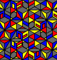 bright colored cube geometric pattern in style of vector image vector image