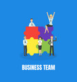 business team banner template with cheerful office vector image vector image