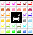 car sign with tag felt-pen 33 colorful vector image vector image