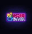 cash back sign design template wallet cash vector image vector image