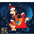 Chinese New Year 2016 of Monkey vector image