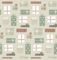 christmas season seamless pattern with cute gift vector image
