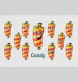 confectionery sweet candy in the wrapper emotions vector image vector image