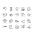 correspondence line icons signs set vector image vector image