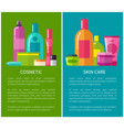 cosmetic and skin care banners vector image vector image