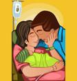 couple having a newborn baby vector image