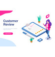 customer review hr manager evaluates resumes vector image