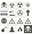 Danger and warning icons simplus series vector | Price: 1 Credit (USD $1)