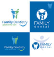 dental care logo vector image vector image