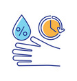 disinfectant contact time rgb color icon vector image vector image