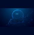 effort concept low poly navy vector image