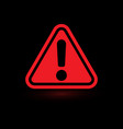 exclamation mark attention web message danger vector image vector image
