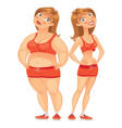 fat and thin woman vector image vector image