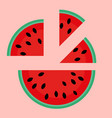 flat flat watermelon slices of vector image