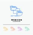 folder file management move copy 5 color line web vector image vector image