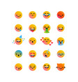 fun smiley face cartoon icon isolated background vector image vector image