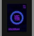 futuristic hologram hud blue circle with hologram vector image
