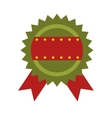 green and red quality ribbon vector image