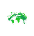 green city concept solar and wind power green vector image