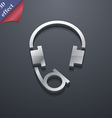 headsets icon symbol 3D style Trendy modern design vector image