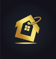 house icon sale business gold logo vector image