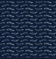 indigo blue fir branch stripes seamless vector image vector image