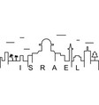 israel outline icon can be used for web logo vector image