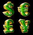 main currency signs vector image
