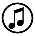 Music button on white vector image vector image