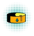 Oil tank storage icon comics style vector image vector image