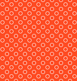 orange background fabric with white circles vector image vector image