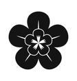 Orchid black simple icon vector image