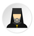 orthodox priest icon circle vector image vector image