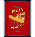 pizza poster vector image