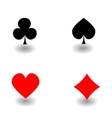 Playing Card Suit Icon Symbol vector image vector image