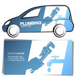 plumber business card and design for auto